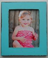 Hanalei Bay Blue Rustic Distressed Picture Frame, 8x8