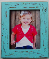 Rustic Malibu Blue Distressed Wood Frame, 8x10