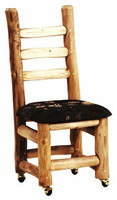 Upholstered Log Side Chair