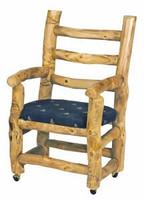 Upholstered Log Captain's Chair