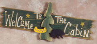 Welcome to the Cabin 3-D Rustic Wood Sign