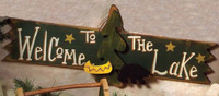 Welcome to the Lake 3-D Rustic Wood Sign