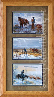 Angels of Mercy, Clark Kelley Price Cowboy Art Framed Set 10x20