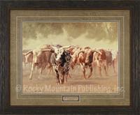 The Bulls Cometh, Greg Beecham Western Art Framed Print