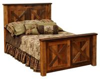 Barndoor Reclaimed Wood Barnwood Bed