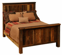 Fireside Lodge Traditional Reclaimed Barnwood Bed
