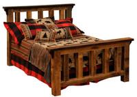 Barnwood Post Bed - Reclaimed Rustic Wood