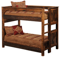 Rustic Reclaimed Wood Bunk Beds - Barnwood