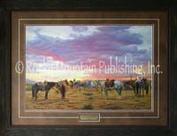 Long Days, Short Pay, Tim Cox Western Art Framed Print 24x33