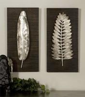 Uttermost Silver Leaves Wall Art