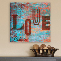 "Personalized ""Love"" Watercolor Canvas Print"