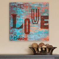 "Personalized ""Love"" Watercolor Canvas Print"