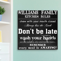 Family Kitchen Rules - Personalized With Surname