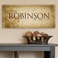 Personalized Family Name on Printed Canvas