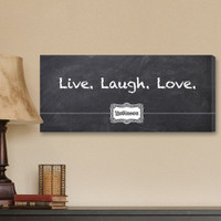 Personalized Live, Laugh, Love Chalkboard-Look Wrapped Canvas Print