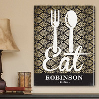 Personalized Kitchen Bistro Wrapped Canvas Print