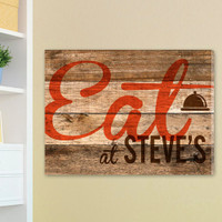 Eat at Steve's Customizable Vintage-look Kitchen Sign