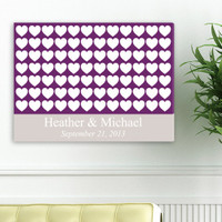 Personalized Wedding Wrapped Canvas - Heartful Wishes