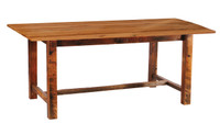 "7 Foot Reclaimed Wood Farm Table - Standard Finish - 42"" Wide"