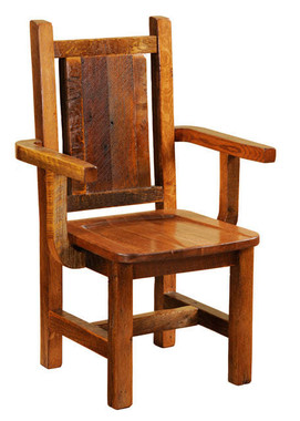Reclaimed Wood Dining Arm Chair