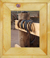 Teton Picture Frame - White Pine Rustic Wood Picture Frame, 8x10 with Light Laquer Finish, Glass and Hanging Hardware