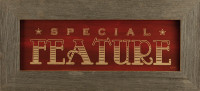 Special Feature Primitive Rustic Media Room Wall Decor Sign, 22x10