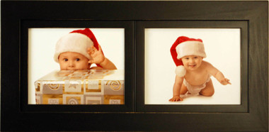2 Opening Collage Picture Frame with Two Landscape 8x10 Picture Openings
