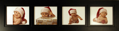 4 Opening Collage Picture Frame with Four Landscape 8x10 Picture Openings