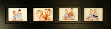 4 Opening Collage Picture Frame with Four Landscape 5x7 Picture Openings