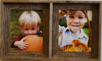 Collage Picture Frame - Barnwood Double Frame, 8x10