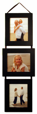5x7 Three Opening Collage Picture Frame Set - Black