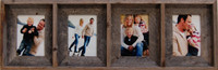 Collage Frames - 5x7 With 4 Openings, Barnwood