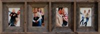 Collage Picture Frame - 8x10 With 4 Openings, Barnwood