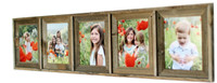 Collage Picture Frame - 5x7 With 5 Openings, Barnwood
