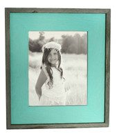 Mint Green Barnwood Picture Frame, 8x8 Rustic Wood