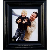Black Picture Frames - 8x10 Black Wood Photo Frame - 2.5 inch Profile
