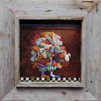 Deep Front Box Frames, Rustic Barnwood, 12x8 Opening