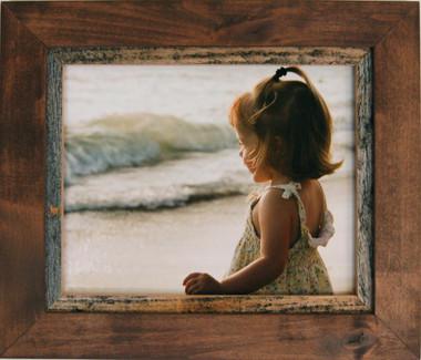 5x7 Rustic Wood Frame - Myrtle Beach Style Alder and Barnwood Frame