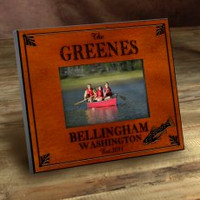 Personalized Wood Picture Frames - Trout Fishing Motif