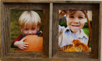 Collage Picture Frame - Barnwood Double Frame, 4x6