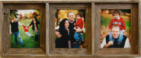 Collage Picture Frame - Barnwood Triple Frame, 5x7