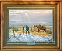 Fence Mender - Western Art Print by Clark Kelley Price, 16x20