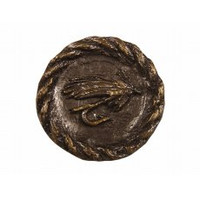 Trout Fly Round Cabinet Hardware Knob