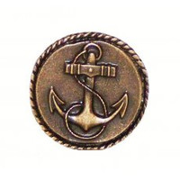 Small Anchor Round Cabinet Hardware Knob