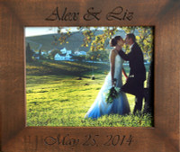 8x10 Personalized Wedding Frame - Solid Wood