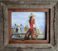 8x10 Texas Vaquero Western Frame - Barbed Wire