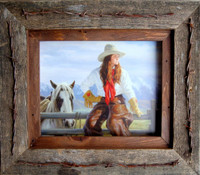 11x14 Texas Vaquero Western Frame - Barbed Wire