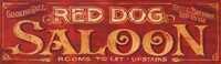 Vintage Sign Red Dog Saloon