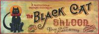 Vintage Sign - Black Cat Saloon