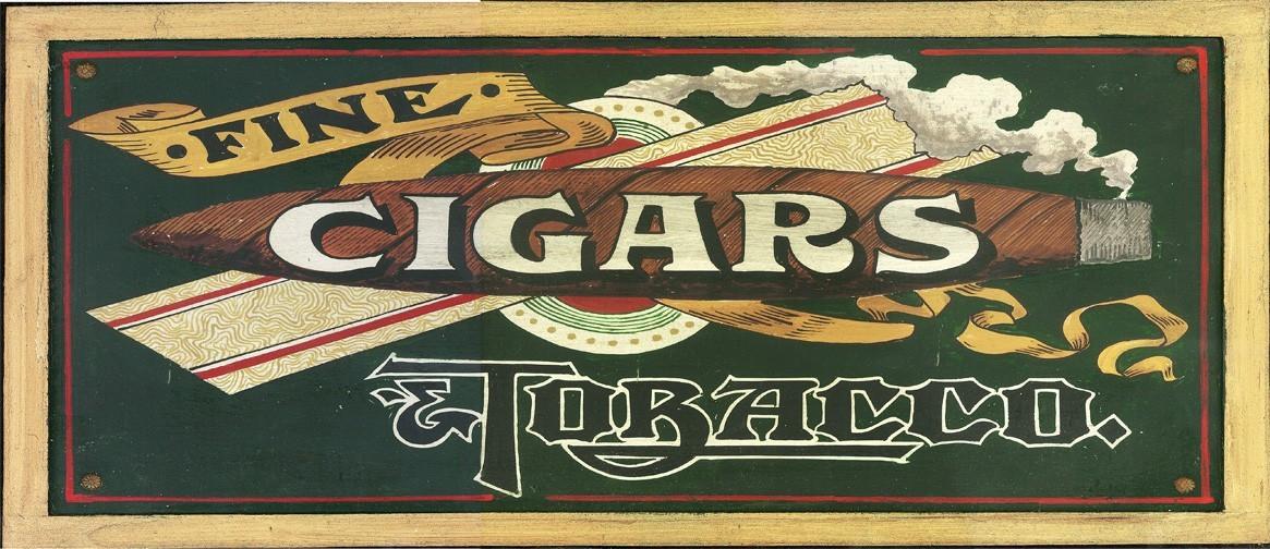 Vintage Cigar Decor Fine Cigars Rustic Sign